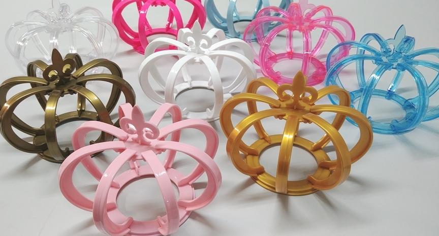 Coroa 3D - Rosa Cristal