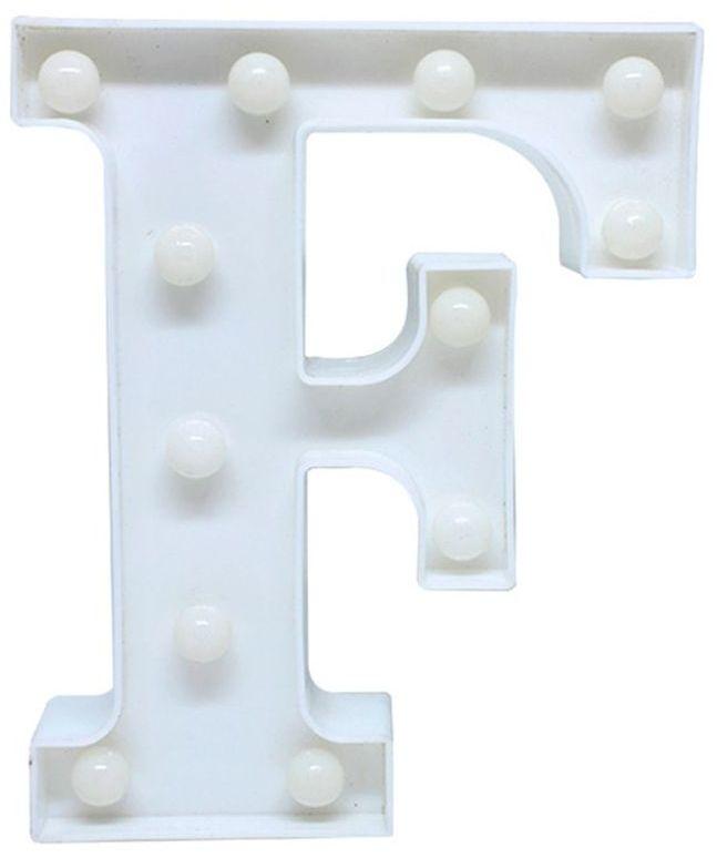 Letra LED - F