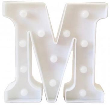 Letra LED - M