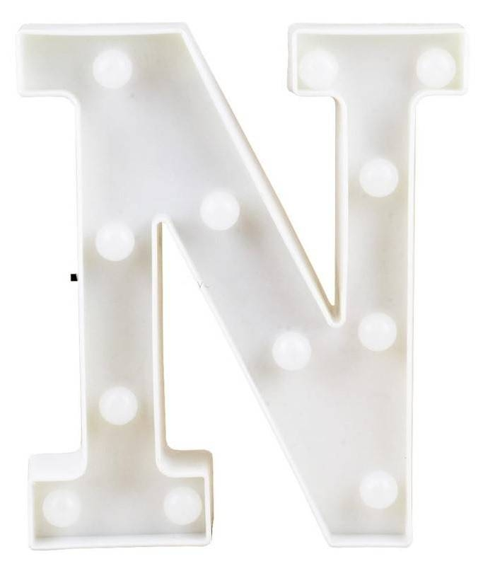Letra LED - N