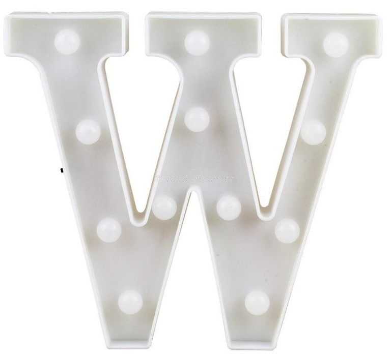 Letra LED - W