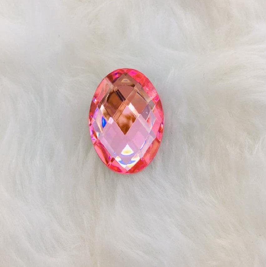 Chaton Oval 13x18 - Rosa Bebê