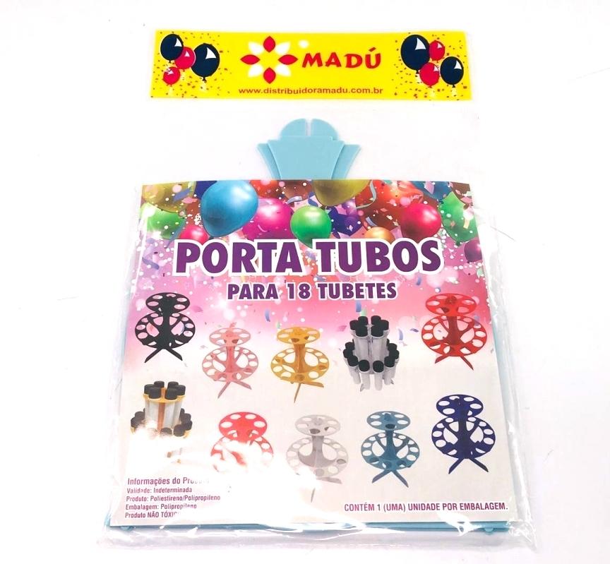 Porta Tubos Redondo - Azul Bebê