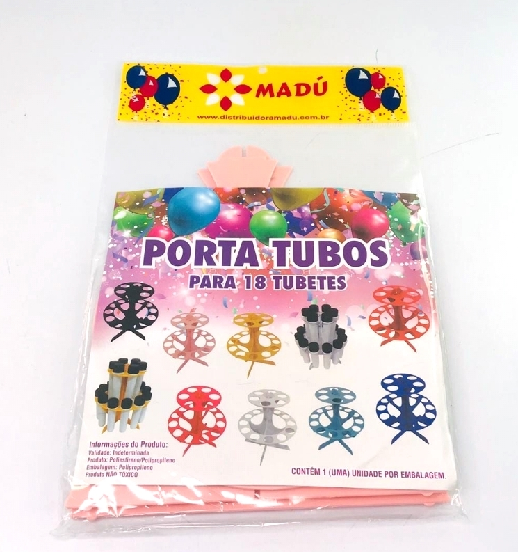 Porta Tubos Redondo - Rosa Bebê