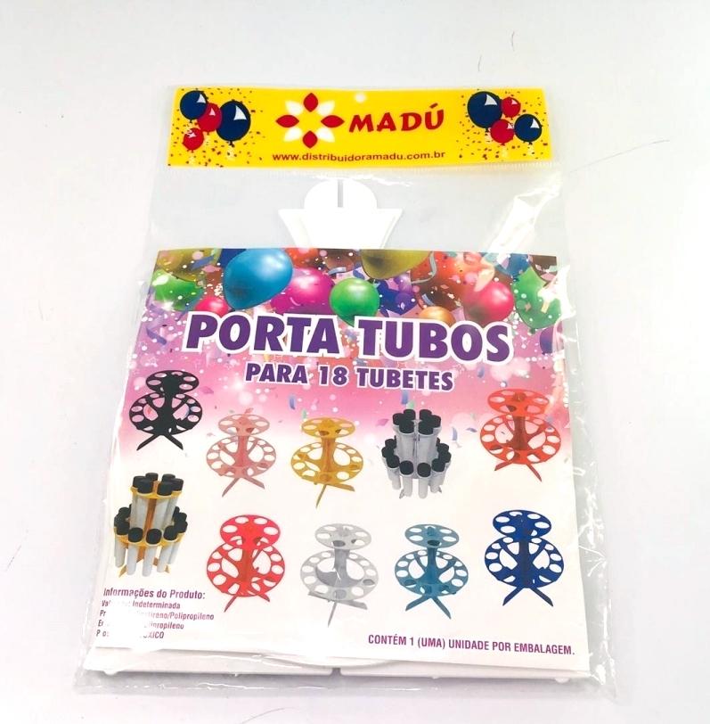 Porta Tubos Redondo - Branco