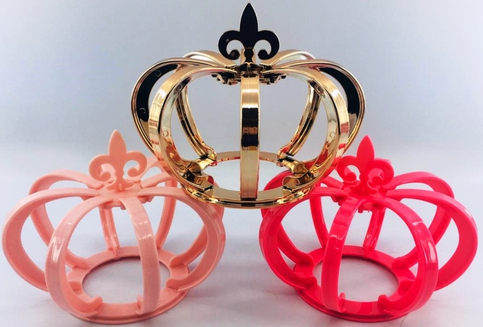 Coroa 3D Metalizada Ouro Rosé