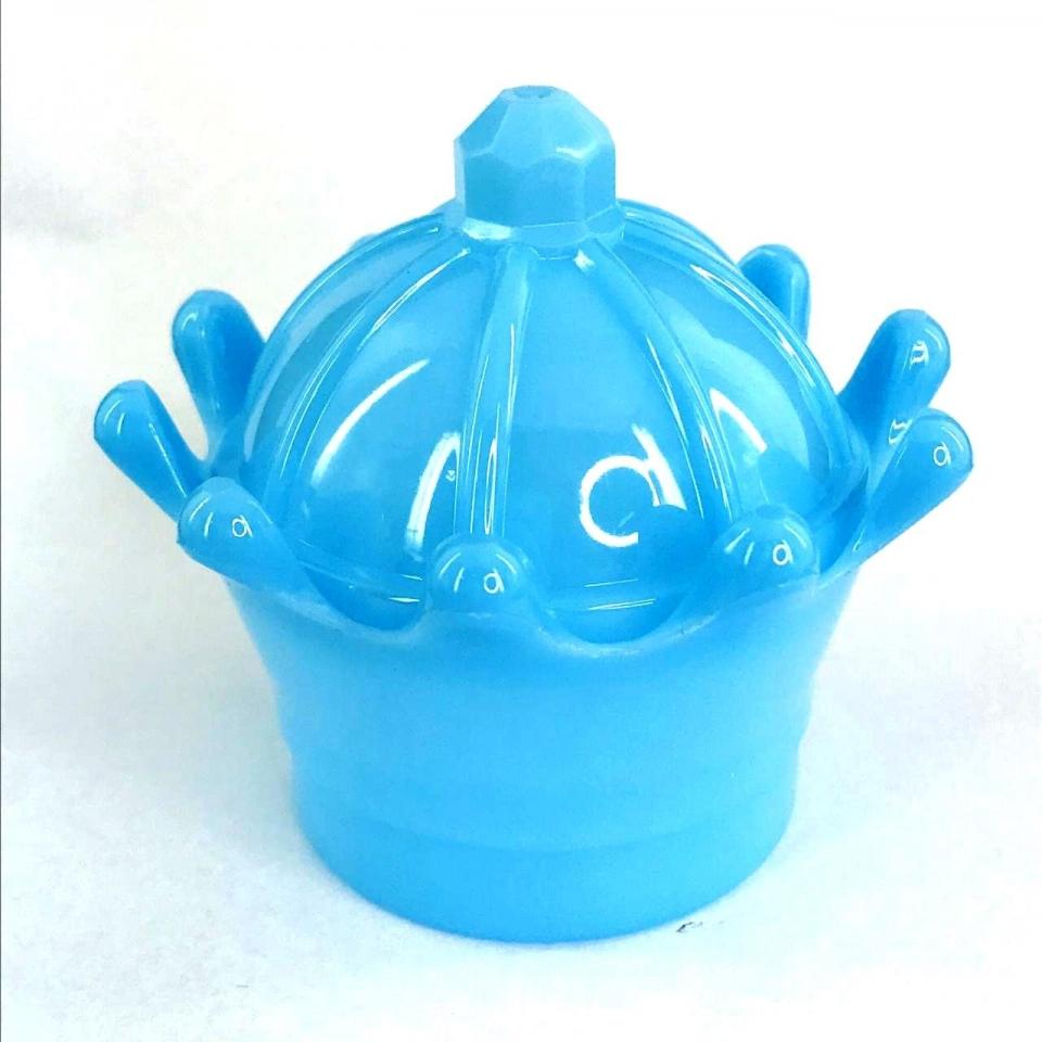 Caixinha Acrílica Coroa 8x7Cm - Azul Leitoso