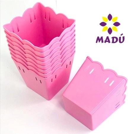 Cachepot Plástico PF 10 und - Rosa Bebê