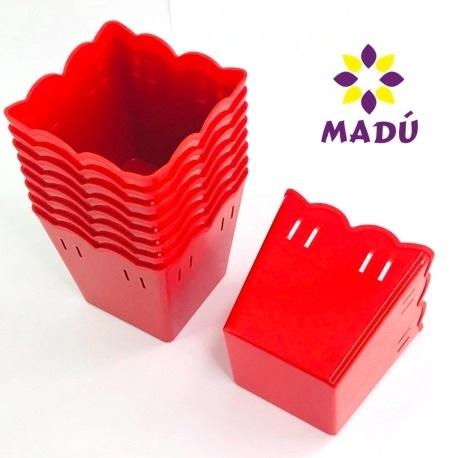 Cachepot Plástico PF 10 und -  Vermelho