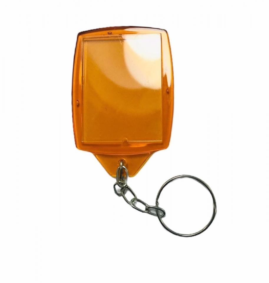 Chaveiro Porta Retrato em Acrílico - Laranja Cristal