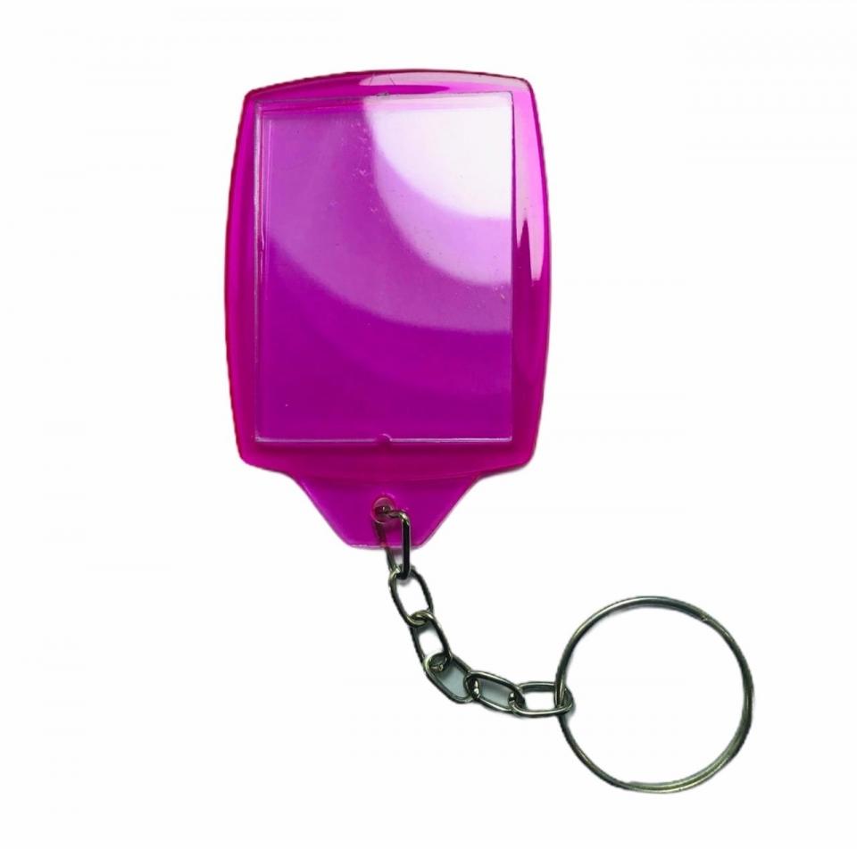Chaveiro Porta Retrato em Acrílico - Pink Cristal