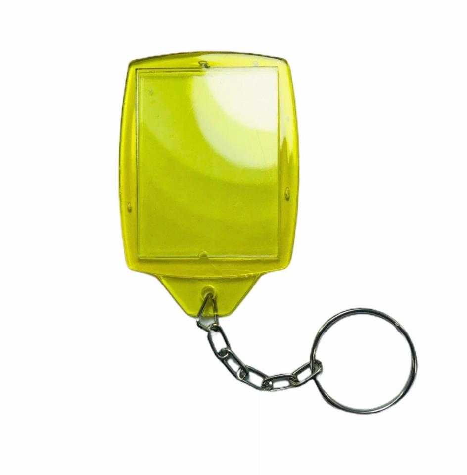 Chaveiro Porta Retrato em Acrílico - Amarelo