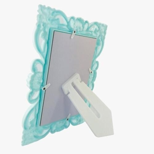 Porta Retrato Plástico Arabesco - Verde Água
