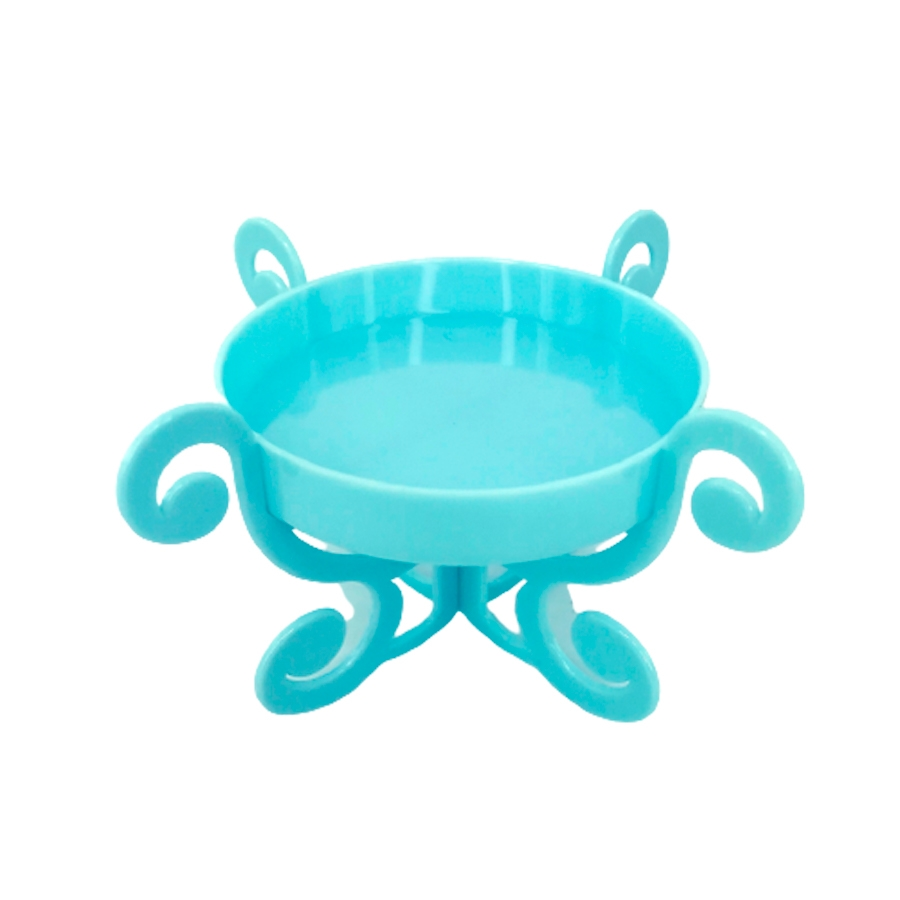 Base Acrílica C/ Pedestal - Azul Bebê