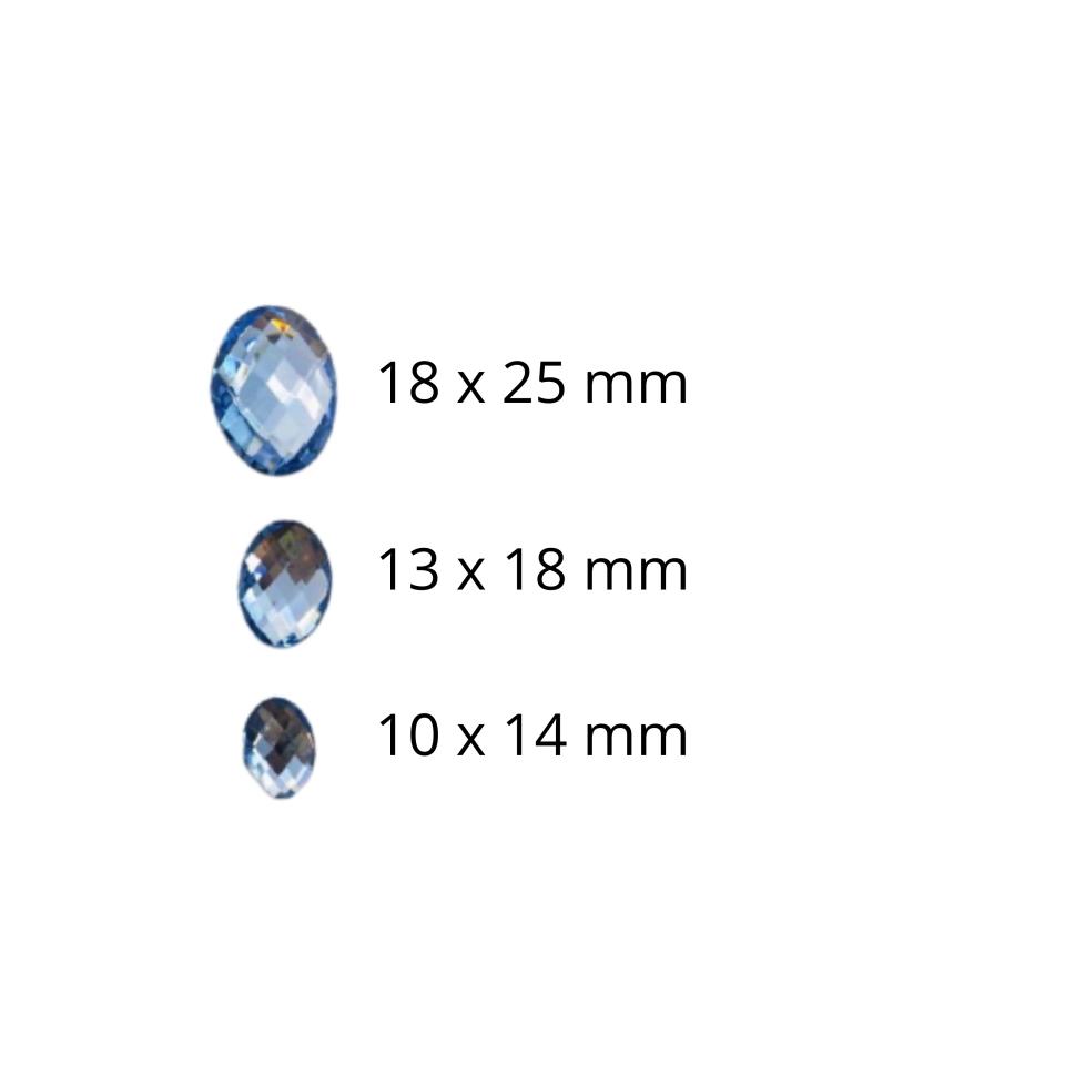 Chaton Oval 18x25 - Azul