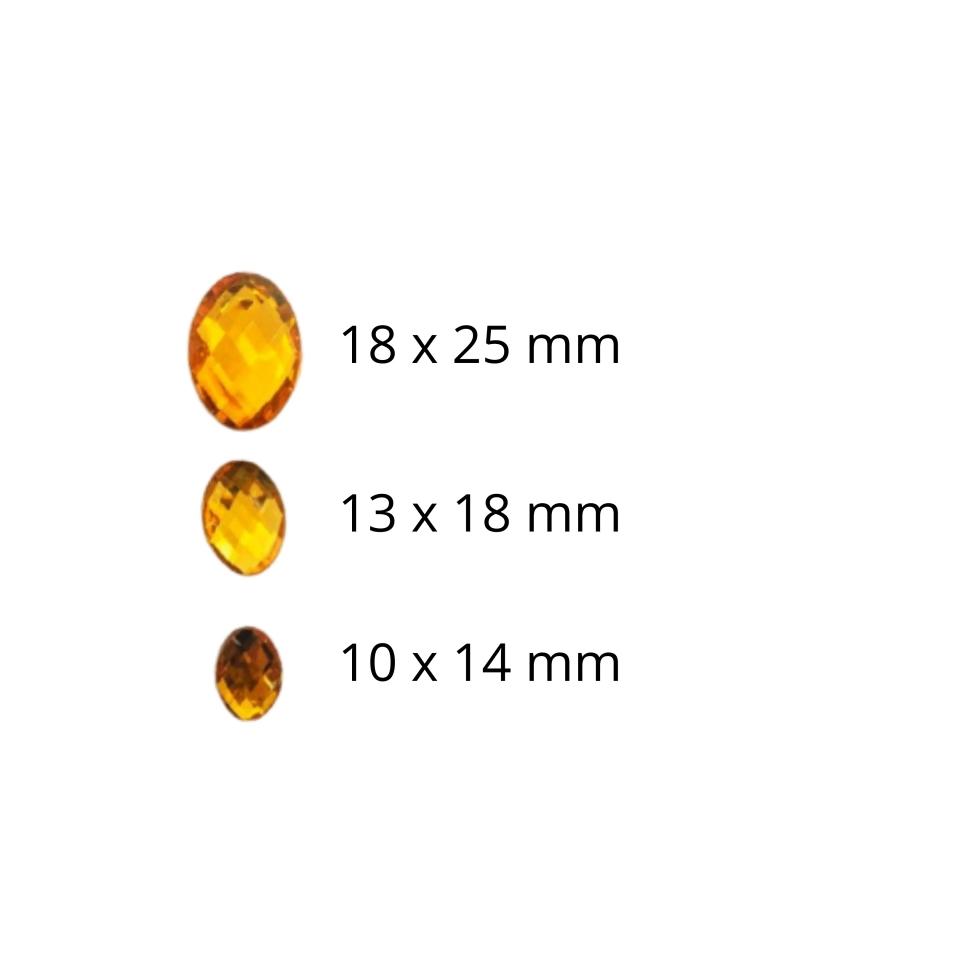 Chaton Oval 13x18 - Dourado