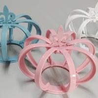 Coroa 3D - Rosa Bebê