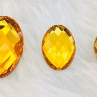 Chaton Oval 18x25 - Dourado