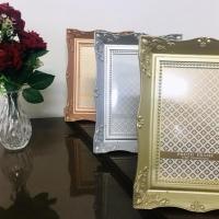 Porta Retrato Plástico Clássico - Ouro Rose