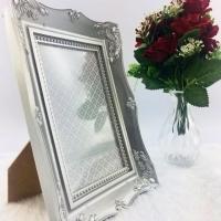 Porta Retrato Plástico Clássico - Prata