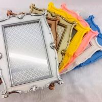 Porta Retrato Plástico Colonial - Azul bebê