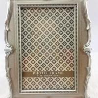 Porta Retrato Plástico Colonial - Prata