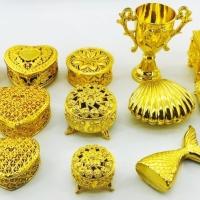 Caixinha Porta Joia Baú MOD 2- Dourado