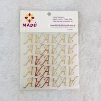Letra A Adesiva em Cartela - Dourada
