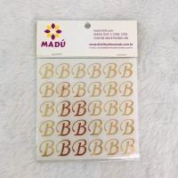 Letra B Adesiva em Cartela - Dourada