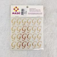 Letra G Adesiva em Cartela - Dourada