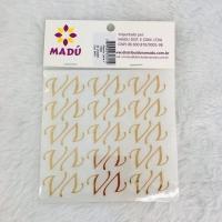 Letra V Adesiva em Cartela - Dourada