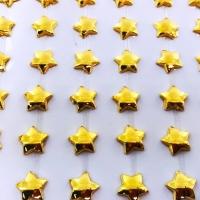 Estrela Metalizada Adesiva em Cartela 10mm - Dourado