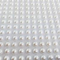 Meia Pérola Adesiva Branca - 6 mm