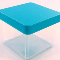 Caixa Acrílica 4x4 cm - Tampa Tiffany