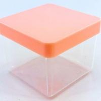 Caixa Acrílica 4x4 cm - Tampa Rosa Bebe