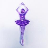 Bailarina Acrílica 8Cm Pct 250g - Lilás Cristal