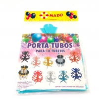Porta Tubos Redondo - Azul Tiffany