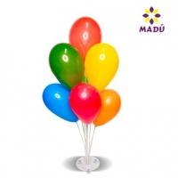Porta Balões Disco Ventosa C/ 7 Pts - 71 Cm