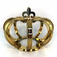 Coroa 3D Metalizada Dourada