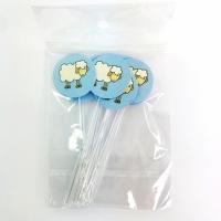 Mini Colher P/ Docinhos - Estampa Ovelha Azul