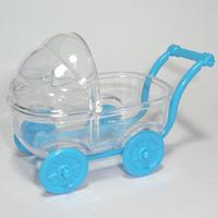 Carrinho de Bebê 8cm PCT 5 UNI - Azul Bebê