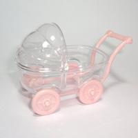 Carrinho de Bebê 8cm PCT 5 UNI - Rosa Bebê