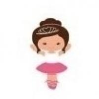 Mini Colher P/ Docinhos - Estampa Bailarina