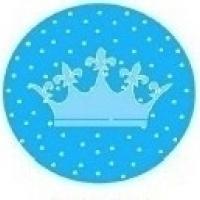 Mini Colher P/ Docinhos - Estampa Coroa Azul