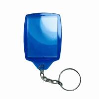 Chaveiro Porta Retrato em Acrílico - Azul Cristal