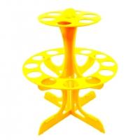 Porta Tubos Redondo - Amarelo