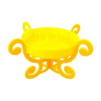 Base Acrílica C/ Pedestal - Amarelo